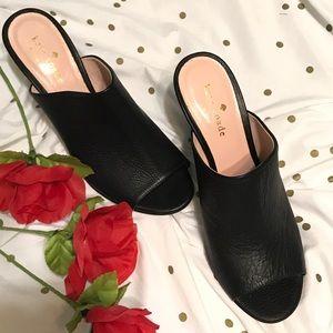 Kate Spade Leather Slide Sandal Size 6 1/2